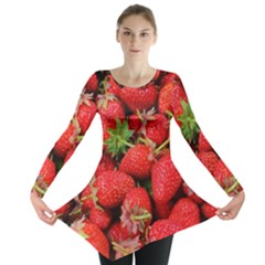 Strawberries Berries Fruit Long Sleeve Tunic