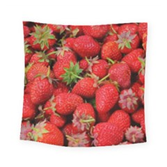 Strawberries Berries Fruit Square Tapestry (small) by Nexatart