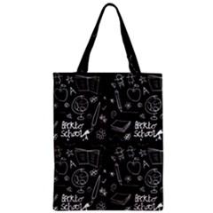 Back To School Zipper Classic Tote Bag by Valentinaart
