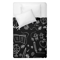Back To School Duvet Cover Double Side (single Size) by Valentinaart