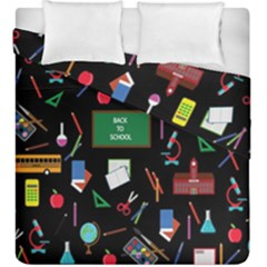 Back To School Duvet Cover Double Side (king Size) by Valentinaart