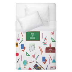 Back To School Duvet Cover (single Size) by Valentinaart