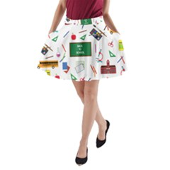 Back To School A Line Pocket Skirt by Valentinaart