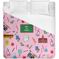 Back To School Duvet Cover (king Size) by Valentinaart