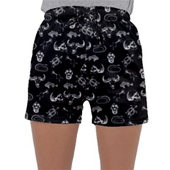 Skeleton Pattern Sleepwear Shorts