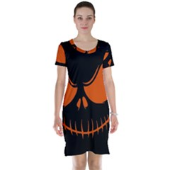 Halloween Short Sleeve Nightdress