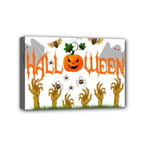 Halloween Mini Canvas 6  X 4  by Valentinaart