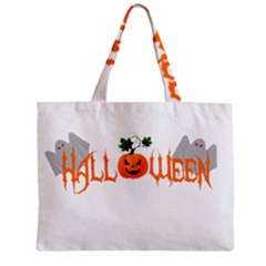 Halloween Zipper Mini Tote Bag by Valentinaart