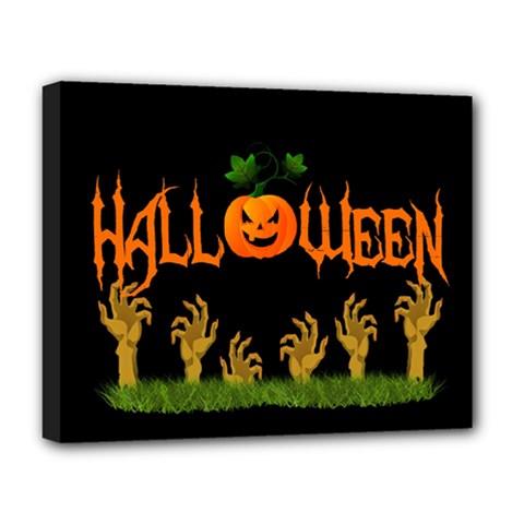 Halloween Deluxe Canvas 20  X 16   by Valentinaart