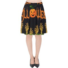 Halloween Velvet High Waist Skirt by Valentinaart