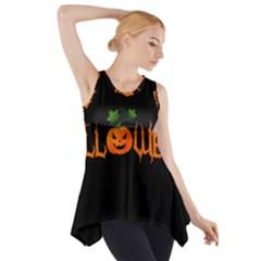 Halloween Side Drop Tank Tunic by Valentinaart
