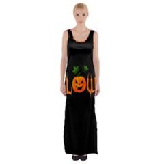 Halloween Maxi Thigh Split Dress by Valentinaart