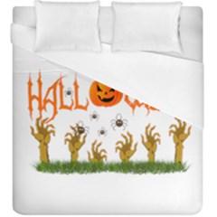 Halloween Duvet Cover (king Size) by Valentinaart