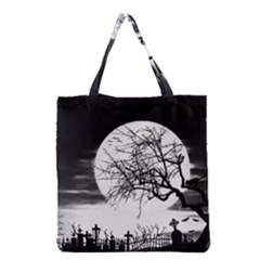 Halloween Landscape Grocery Tote Bag by Valentinaart