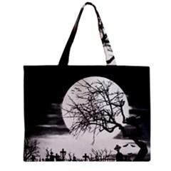 Halloween Landscape Zipper Mini Tote Bag by Valentinaart