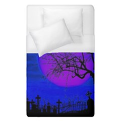 Halloween Landscape Duvet Cover (single Size) by Valentinaart