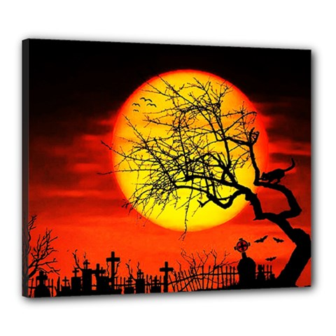 Halloween Landscape Canvas 24  X 20  by Valentinaart