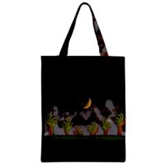 Halloween Zombie Hands Zipper Classic Tote Bag by Valentinaart