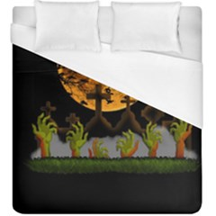 Halloween Zombie Hands Duvet Cover (king Size) by Valentinaart