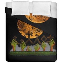 Halloween Zombie Hands Duvet Cover Double Side (california King Size) by Valentinaart