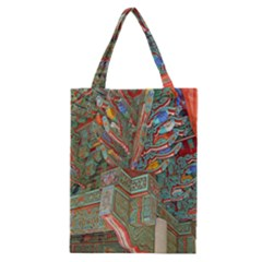 Traditional Korean Painted Paterns Classic Tote Bag by Onesevenart