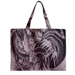 Chinese Dragon Tattoo Zipper Mini Tote Bag by Onesevenart