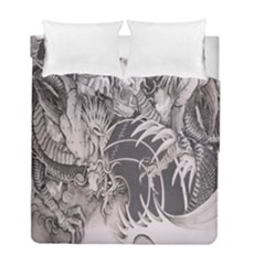 Chinese Dragon Tattoo Duvet Cover Double Side (full/ Double Size)