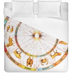 Zodiac  Institute Of Vedic Astrology Duvet Cover (king Size)