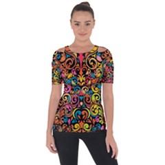 Art Traditional Pattern Short Sleeve Top