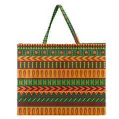 Mexican Pattern Zipper Large Tote Bag by Onesevenart