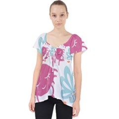 Animals Sea Flower Tropical Crab Dolly Top