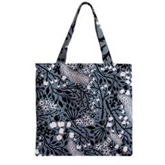 Abstract Floral Pattern Grey Grocery Tote Bag by Mariart
