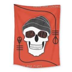 Poster Twenty One Pilots Skull Medium Tapestry by Onesevenart