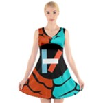 Twenty One Pilots V-Neck Sleeveless Skater Dress