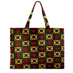 African Textiles Patterns Zipper Mini Tote Bag by Mariart