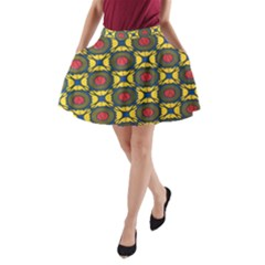 African Textiles Patterns A Line Pocket Skirt by Mariart