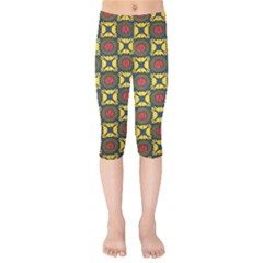African Textiles Patterns Kids  Capri Leggings