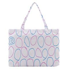 Circles Featured Pink Blue Zipper Medium Tote Bag by Mariart