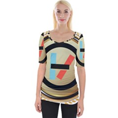 Twenty One Pilots Shield Wide Neckline Tee