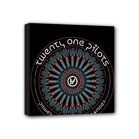 Twenty One Pilots Mini Canvas 4  X 4  by Onesevenart