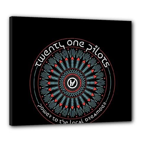 Twenty One Pilots Canvas 24  X 20  by Onesevenart