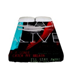 Twenty One Pilots Stay Alive Song Lyrics Quotes Fitted Sheet (full/ Double Size) by Onesevenart
