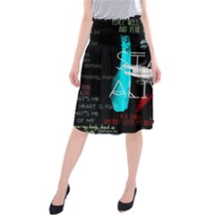 Twenty One Pilots Stay Alive Song Lyrics Quotes Midi Beach Skirt by Onesevenart