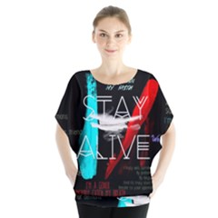 Twenty One Pilots Stay Alive Song Lyrics Quotes Blouse by Onesevenart