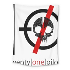 Twenty One Pilots Skull Medium Tapestry by Onesevenart