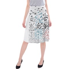 Twenty One Pilots Birds Midi Beach Skirt by Onesevenart