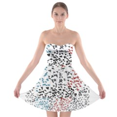 Twenty One Pilots Birds Strapless Bra Top Dress by Onesevenart