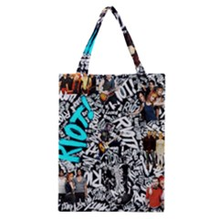 Panic! At The Disco College Classic Tote Bag by Onesevenart