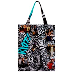 Panic! At The Disco College Zipper Classic Tote Bag by Onesevenart
