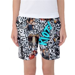 Panic! At The Disco College Women s Basketball Shorts by Onesevenart